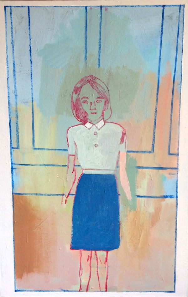 Girl in a Panelled Room 63x93cm (2016)