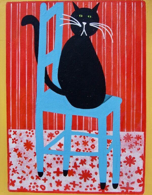 Lucky Black Cat 72x92cm (2020)