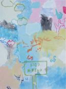 Found Landscape (Stop Ahead) 76x101cm (2012)