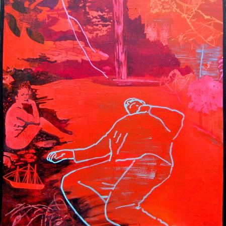 Prospero's Island 92x92cm (2006) SOLD