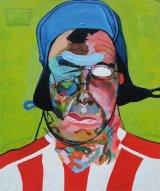 Self-Portrait as Sunderland Supporter  36x43cm  (2007)