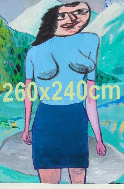 Woman in a Landscape 51x77cm (2013)