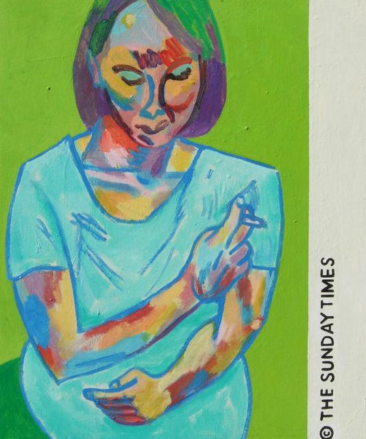 Woman with Cigarette 50x61cm (2013)