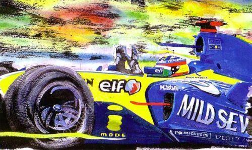 Alonso F1 Champion 2005 (31cm x 21cm)