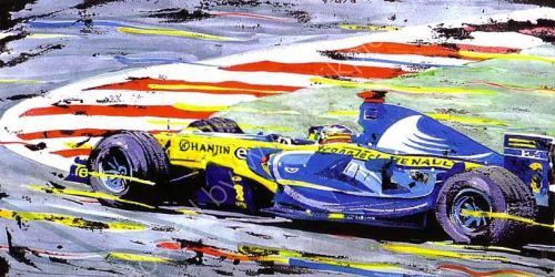 Alonso F1 Champion 2006 (42cm x 27cm)