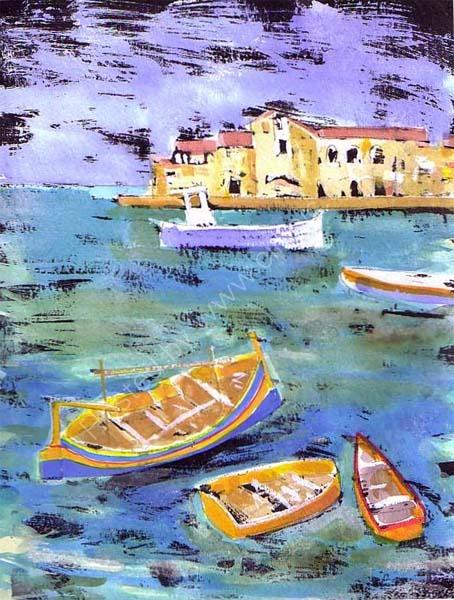 Maltese Harbour 21cm x27cm