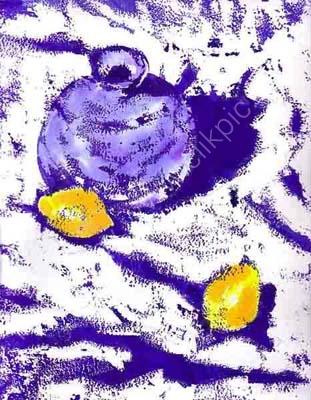 One Vase Two Lemons (24cm x 31cm)