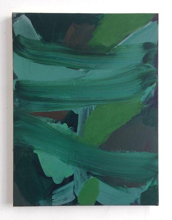 Some say, acrylic on unprimed canvas, 40 x 30cm, 2019