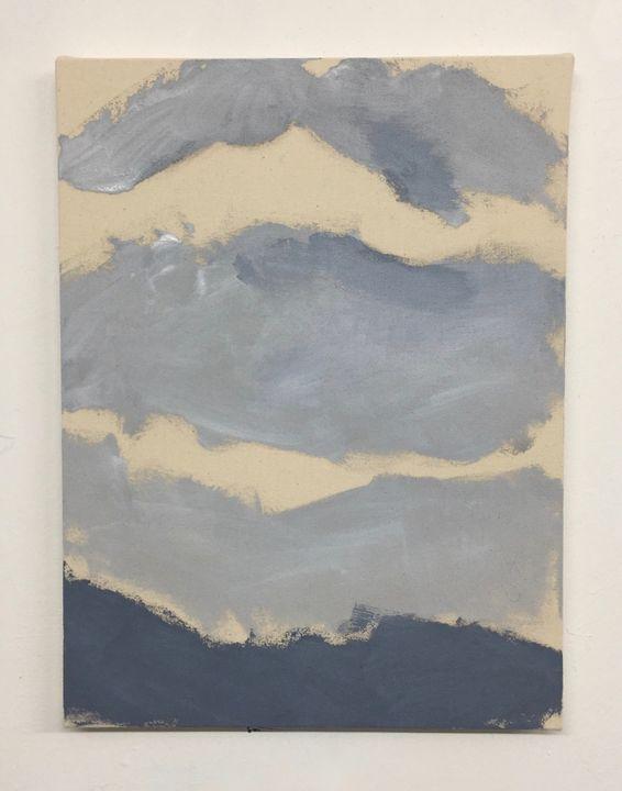 Suffices, acrylic on unprimed canvas. 40.5x30.5cm, 2019