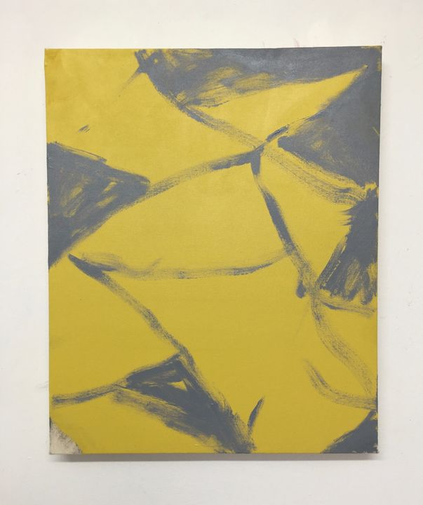 Fruits will speak, acrylic on unprimed canvas, 56x46cm, 2019