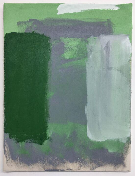 Lutz, acrylic on unprimed canvas, 40 x 30cm, 2019