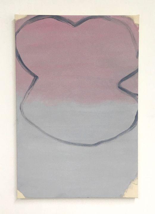 Amity, acrylic on unprimed canvas, 100 x 75cm, 2019