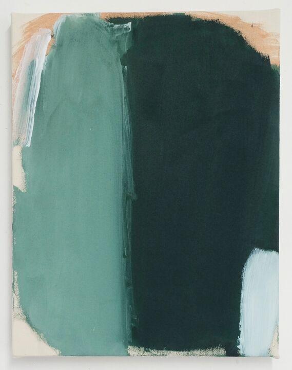 Hotel language, acrylic on unprimed canvas, 56 x 46cm, 2020