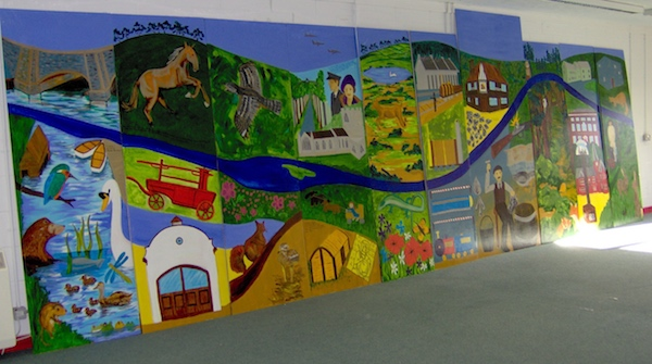 Brandon Railway Station mural