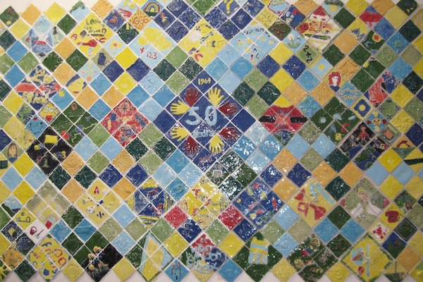Ceramic Relief squares mural