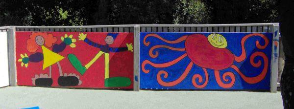 Glade Community School - target murals