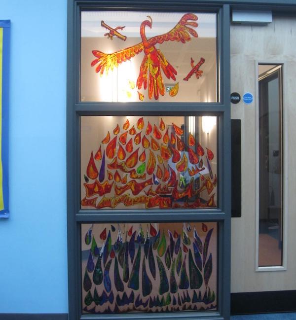Glass Painting Phoenix