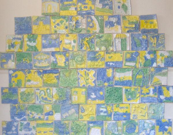 Hunstanton Infant School - ceramic relief