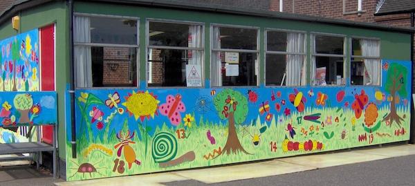 Infant School Numbers mural