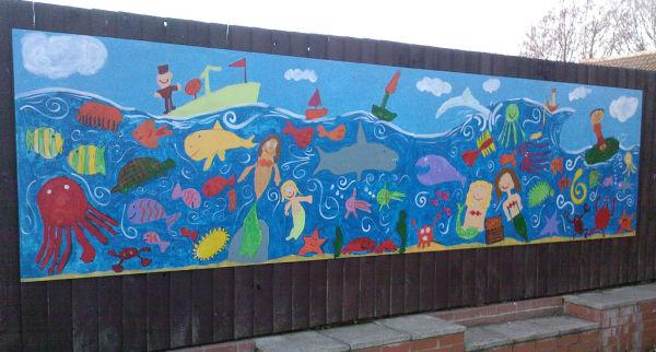 Whitefriars Primary School Undersea mural