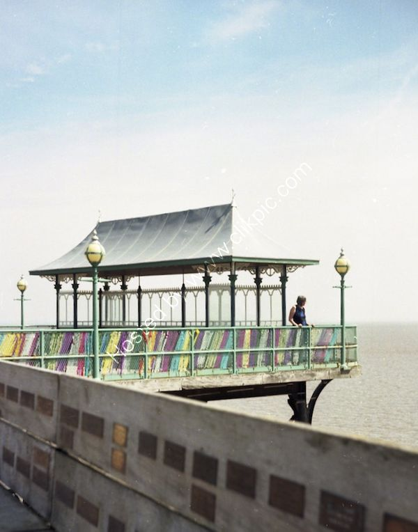 Clevedon Pier cross-process