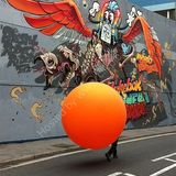 The man with the orange balloon