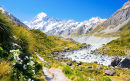 Hooker Valley and Mount Cook, New Zealand