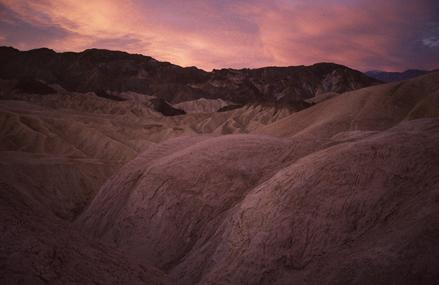 Death Valley Dawn over Zabriskie Point