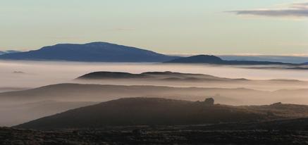 Rannoch Moor morning mist