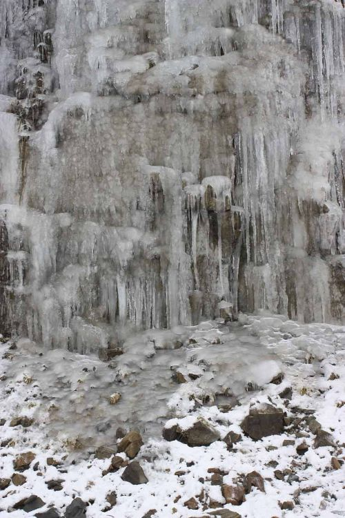 Wall of ice near Knockan