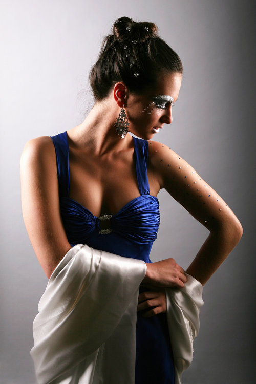 Blue and silk
