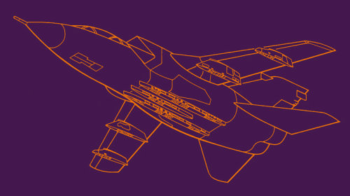Military jet - Irwin Technical Ltd