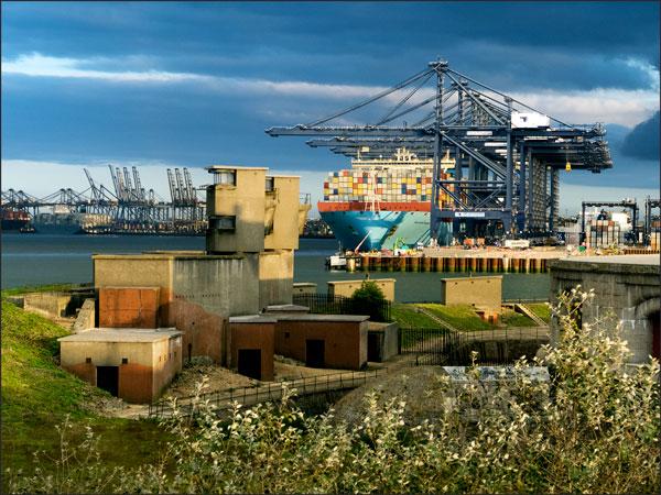 Felixstowe Port from Landguard Fort