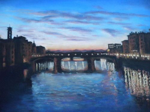 Sunset over Ponte alla Grazie