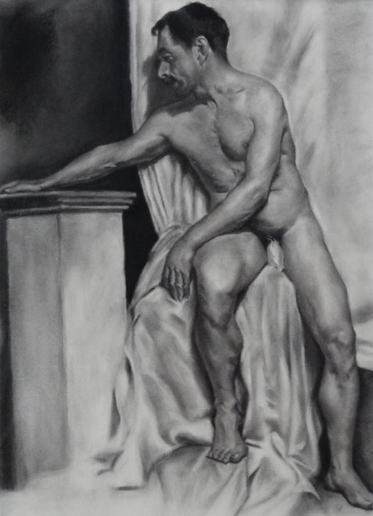 Study of a Male Nude, Copy
