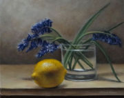 Still Life with Bluebells and Lemon