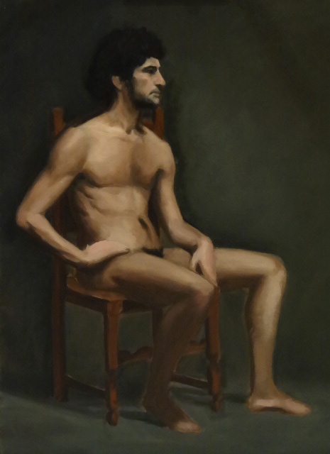 Study Of a Sitting Male Nude