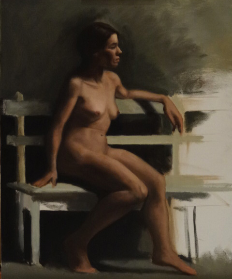Study of a Sitting Nude Female