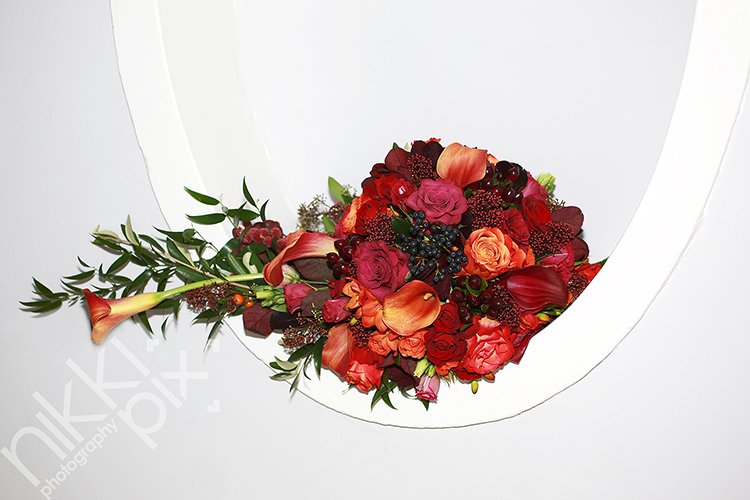 Autumnal Bridal Bouquet from Fulford Flowers