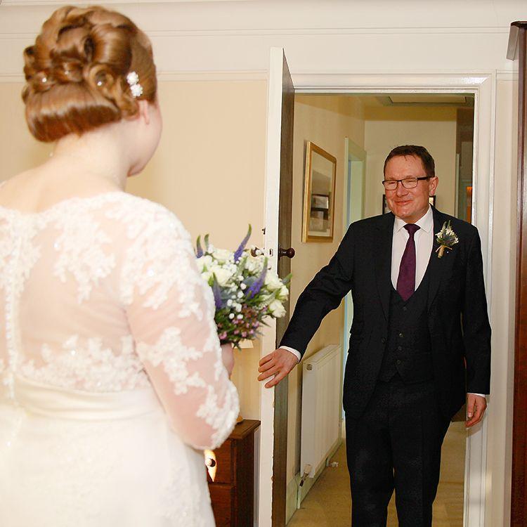 Glimpsing the bride