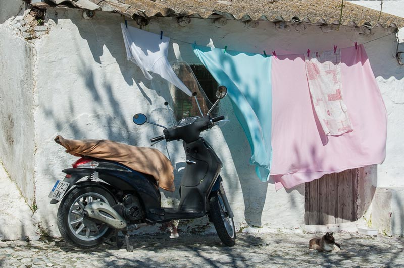 Scooter and laundry