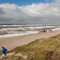 West coast on a windy day