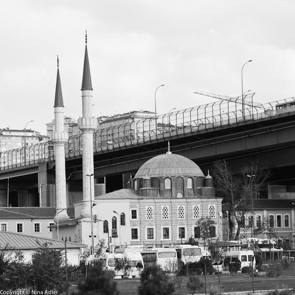 Mosque and motorway