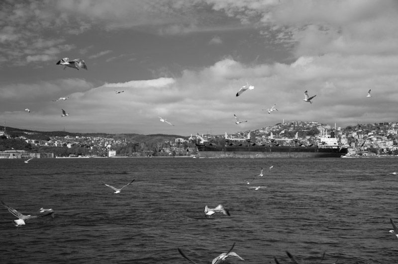The Bosphorus - with a view to Asia