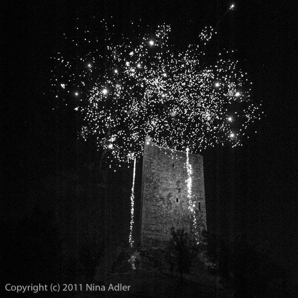 Feux d'artifices le14 juillet à la tour