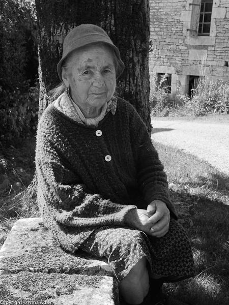 Madame B, the bench