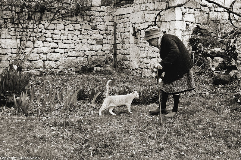 Madame B and her cat