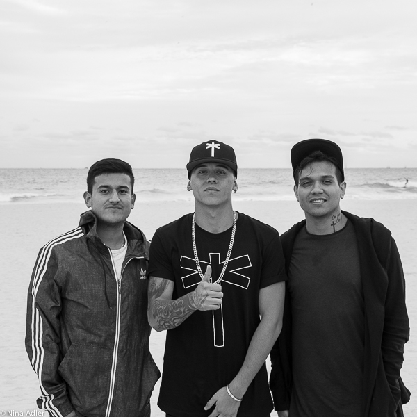 Hispanic trio