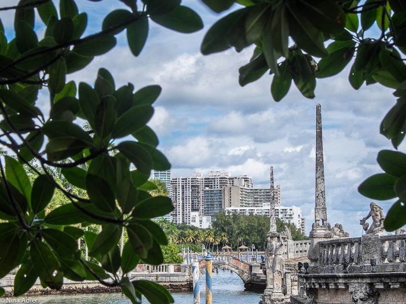 View from Vizcaya towards Miami