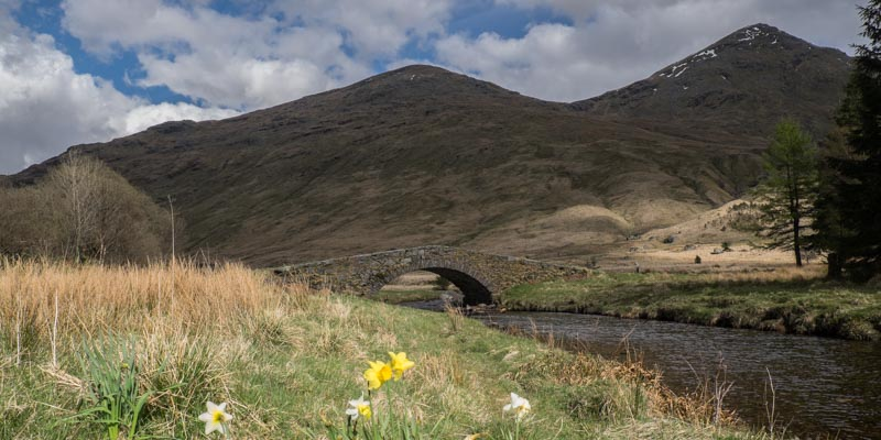 Old stone bridge near Glencoe